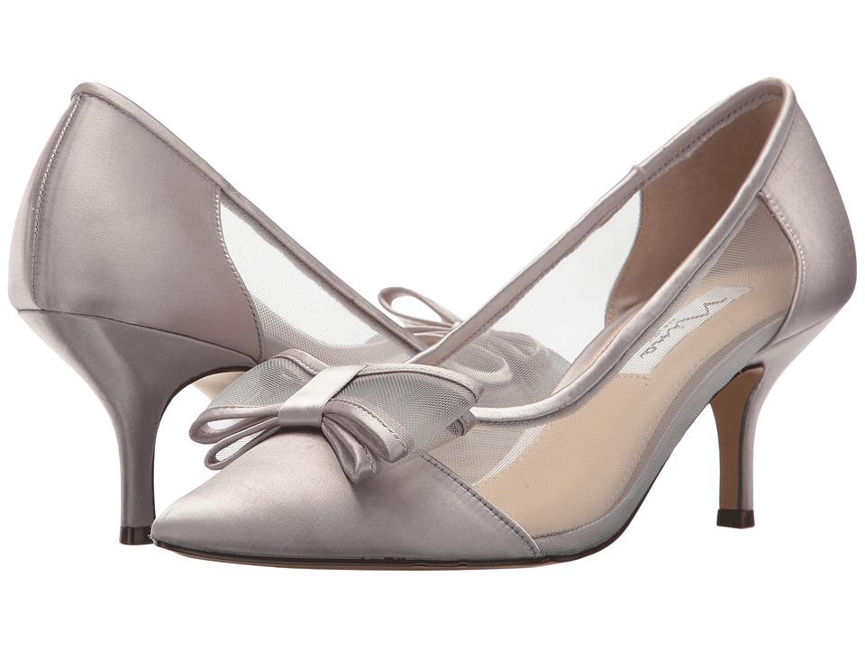 NinaBianca  (Silver Crystal Satin-Mesh) Womens 1-2 inch heel Shoes