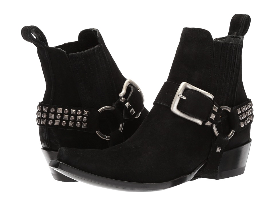 Old Gringo Harley Stud Strap (Black Suede) Cowboy Boots