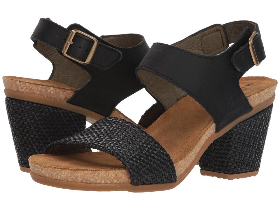 El Naturalista - Mola N5033T (Black) Womens Shoes