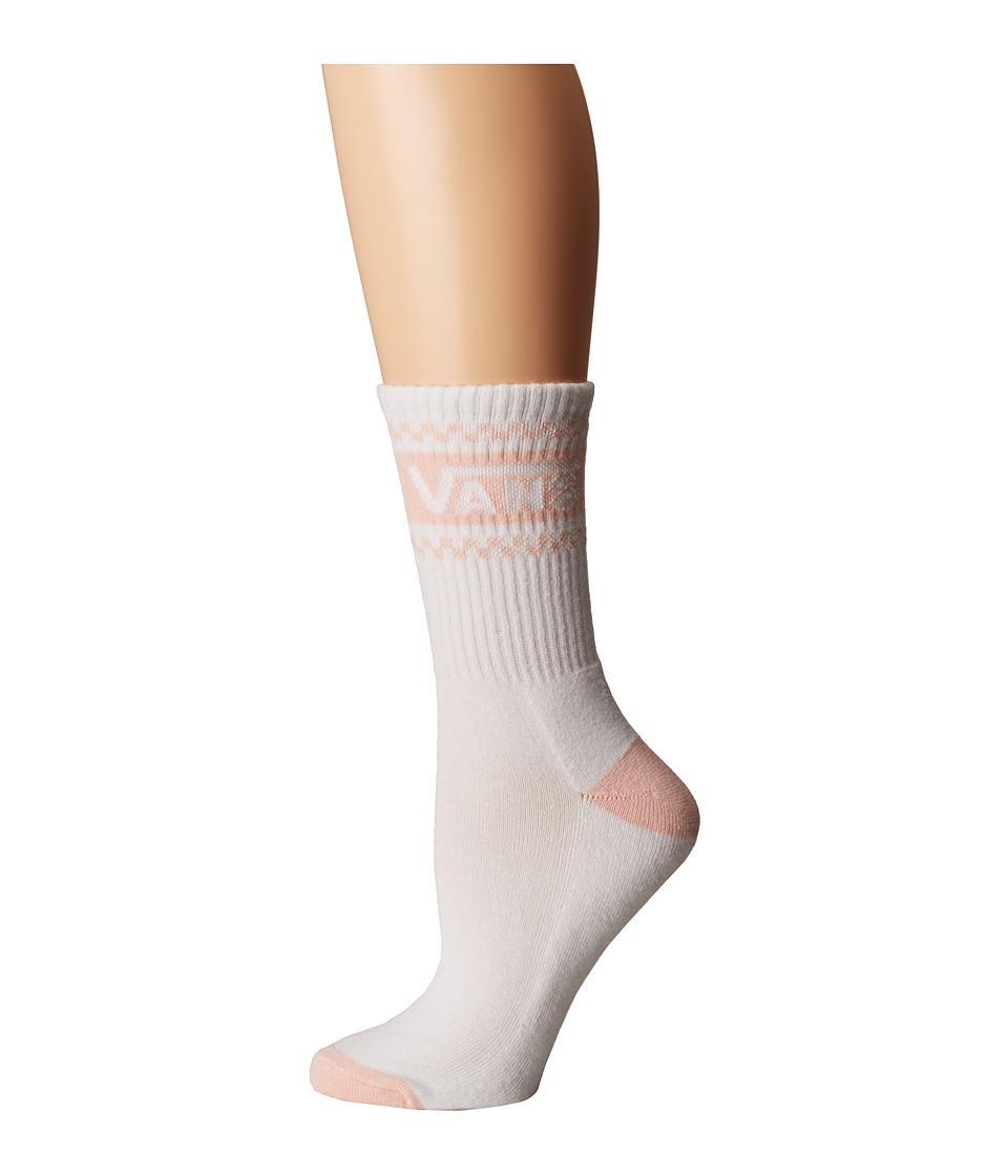 Vans Girl Gang Crew Socks (White/English Rose) Women