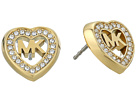 Michael Kors Love Is In The Air Pave Heart Stud Earrings