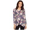 Nally & Millie Floral V-Neck Top