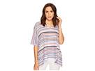 Nally & Millie Nally & Millie Navy Stripe Printed V-Neck Top