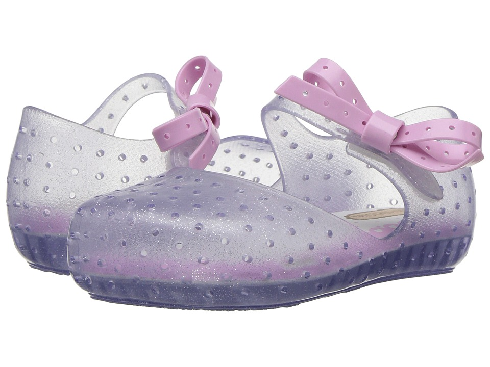 Mini Melissa - Mini Furadinha X (Toddler/Little Kid) (Clear Gloss) Girls Shoes