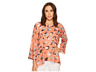Nally & Millie Rust Printed Trapeze Top