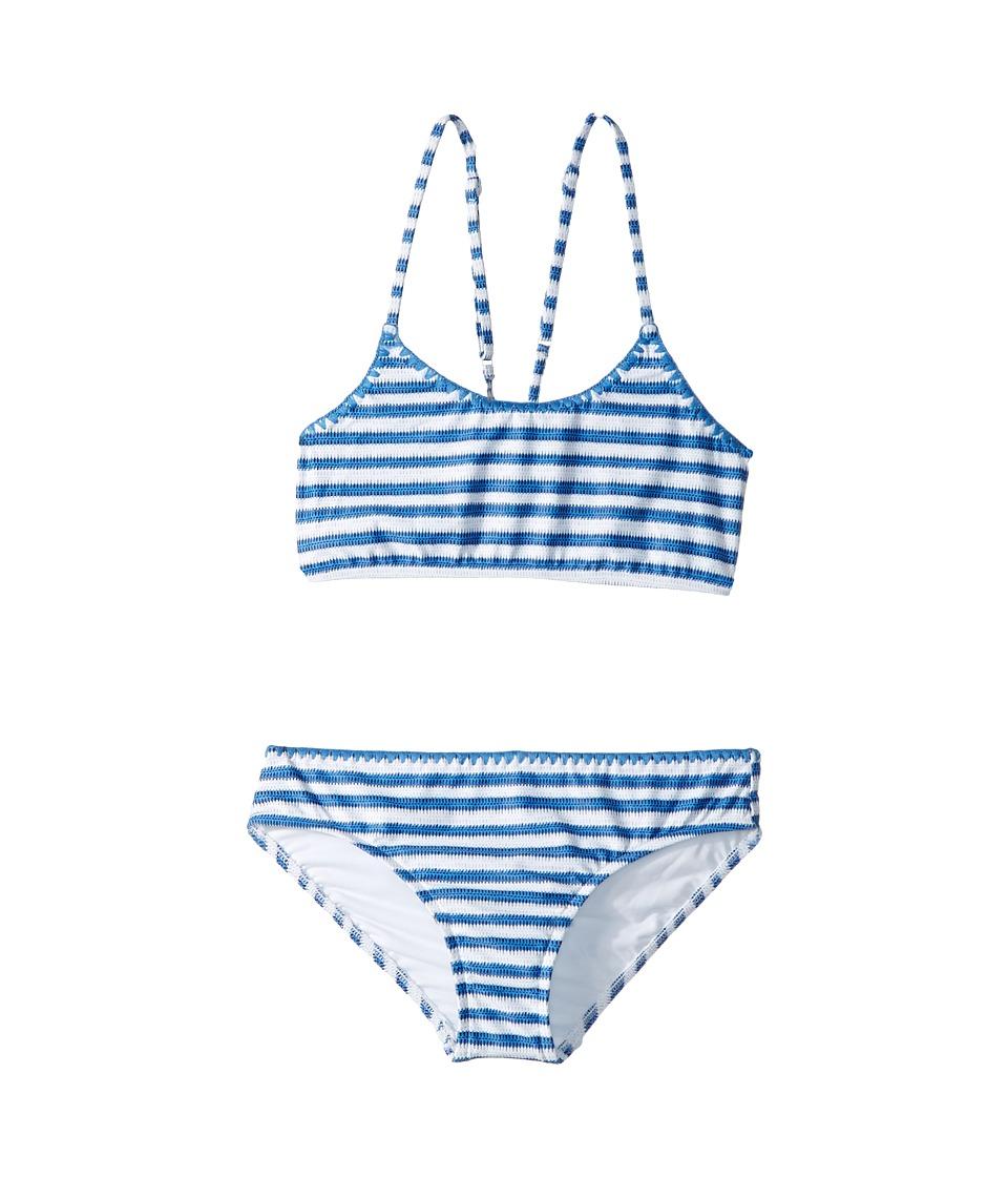Seafolly Kids Sapphire Coast Stripe Tankini Set (Little Kids/Big Kids) (Hawaii Blue) Girl