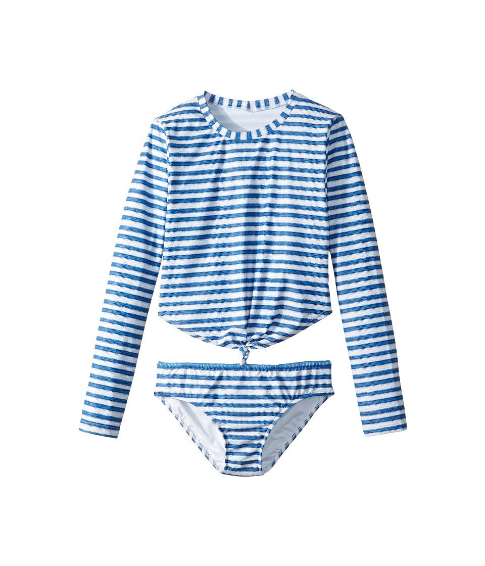 Seafolly Kids Sapphire Coast Knot Front Surf Set (Little Kids/Big Kids) (Hawaii Blue) Girl