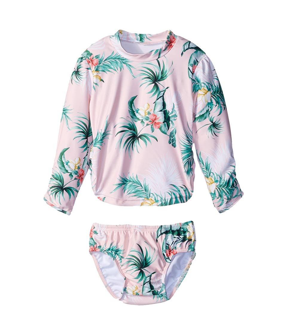 Seafolly Kids Hawaiian Rose Rashie Set (Infant/Toddler) (Hawaii Pink) Girl