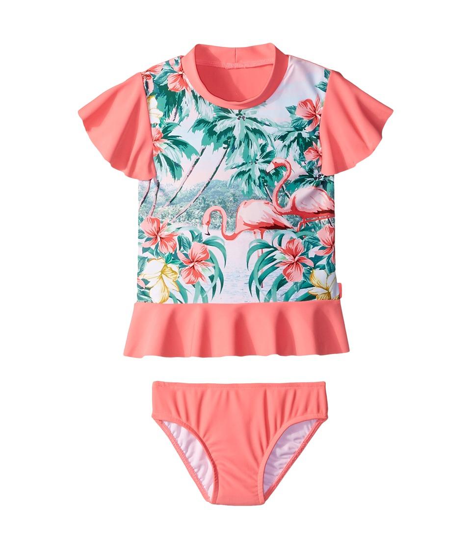 Seafolly Kids Hawaiian Rose Rashie Set (Infant/Toddler/Little Kids) (Rose Pink) Girl
