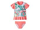 Seafolly Kids Hawaiian Rose Rashie Set (Infant/Toddler/Little Kids)