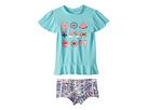 Seafolly Kids Candy Pop Short Sleeve Rashie Set (Infant/Toddler/Little Kids)