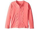 Seafolly Kids Sweet Summer Long Sleeve Zip Front Rashie (Infant/Toddler/Little Kids)