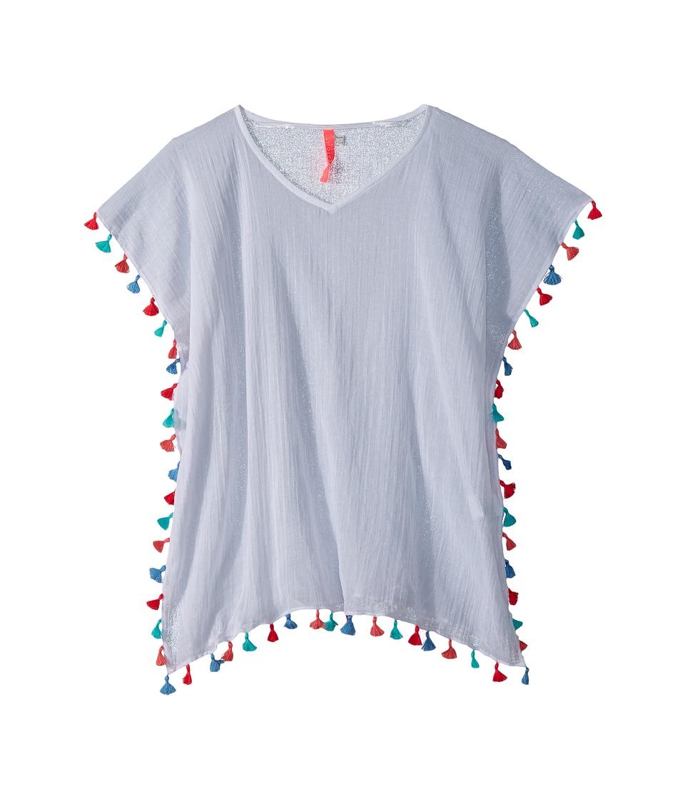 Seafolly Kids Summer Essentials Kaftan Cover-Up (Little Kids/Big Kids) (White/Multi) Girl