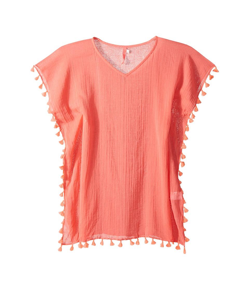 Seafolly Kids Summer Essentials Kaftan Cover-Up (Little Kids/Big Kids) (Rose Pink) Girl