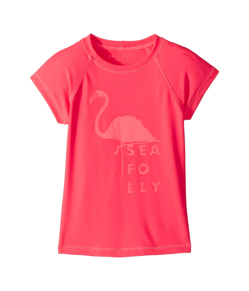Seafolly Kids Summer Essentials Short Sleeve Rashie (Little Kids/Big Kids) (Jewel Coral) Girl