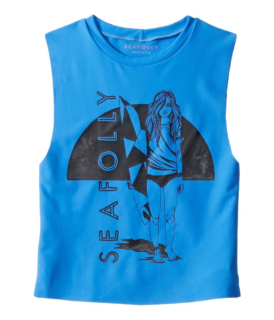 Seafolly Kids Sapphire Coast Sleeveless Rashie (Little Kids/Big Kids) (Hawaii Blue) Girl