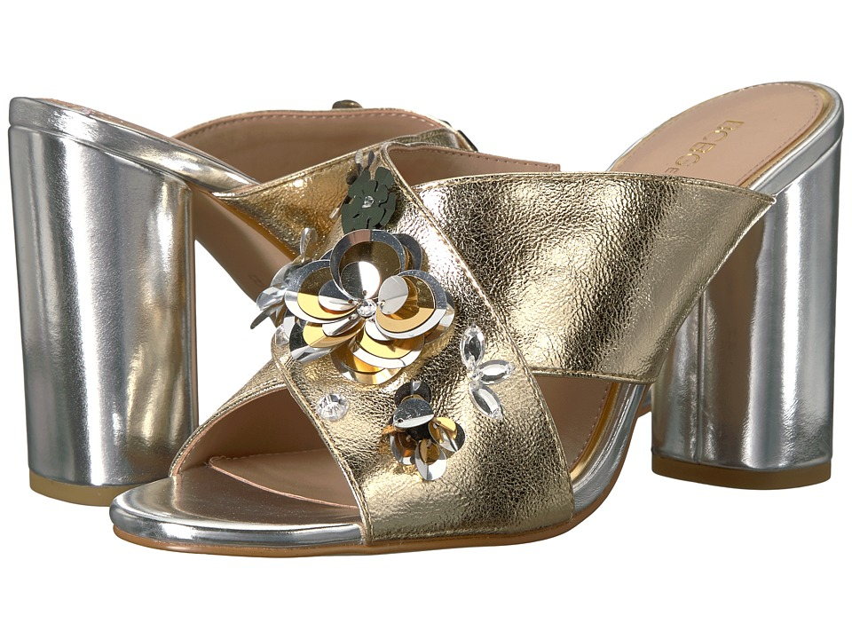 BCBGeneration - Fabia (Light Gold Scrunched Metallic) Women's Sandals