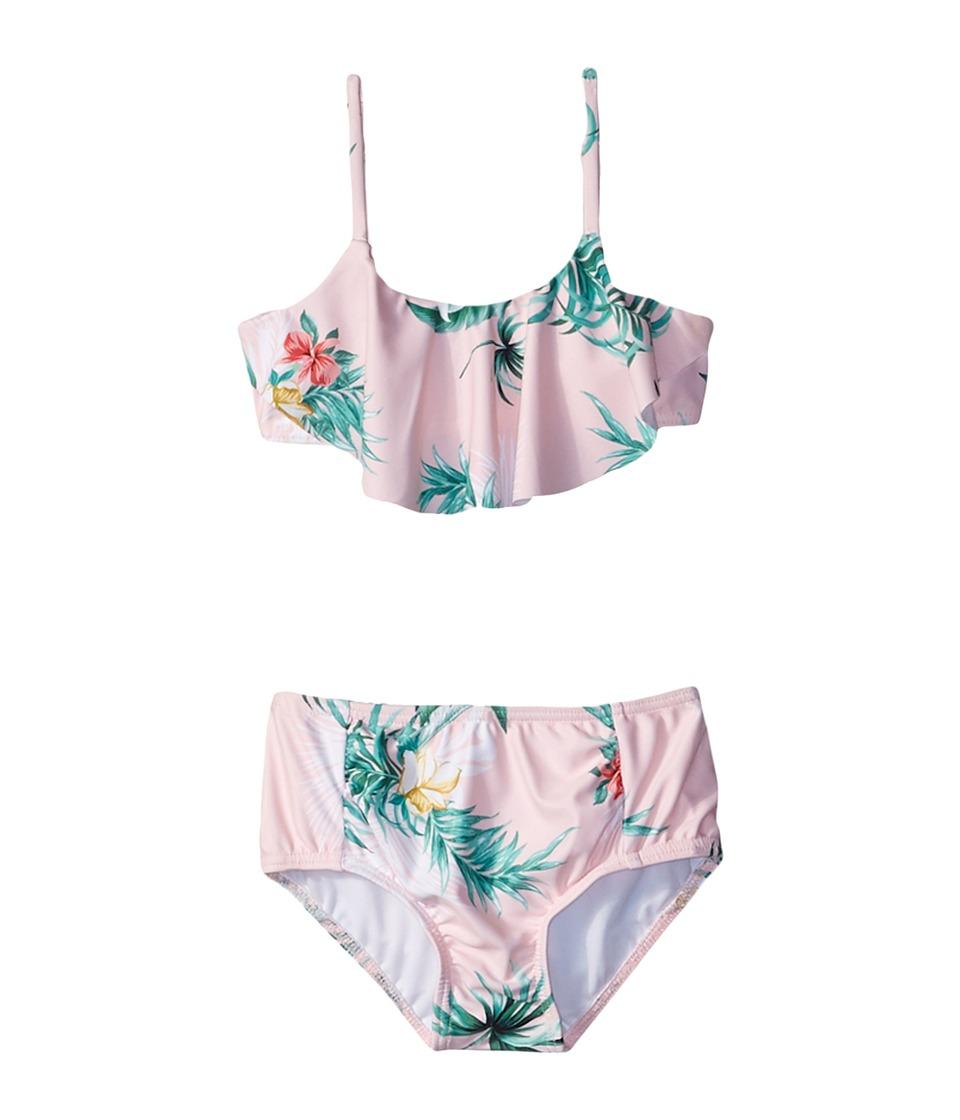 Seafolly Kids Hawaiian Rose Ruffle Tankini Set (Toddler/Little Kids) (Hawaii Pink) Girl
