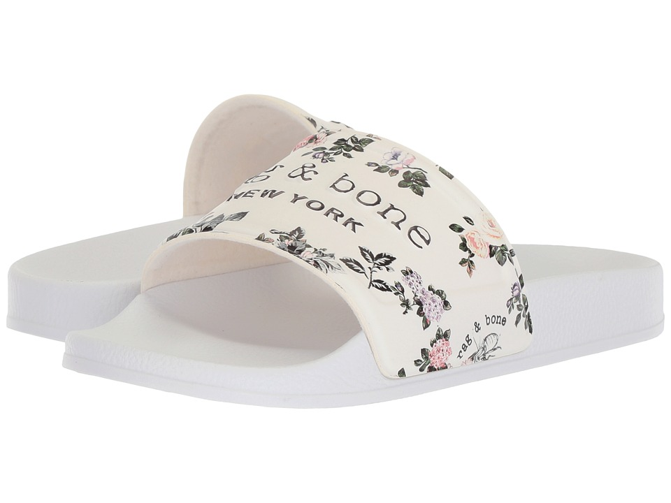 rag & bone - Pool Slide (Garden Floral) Womens Slide Shoes