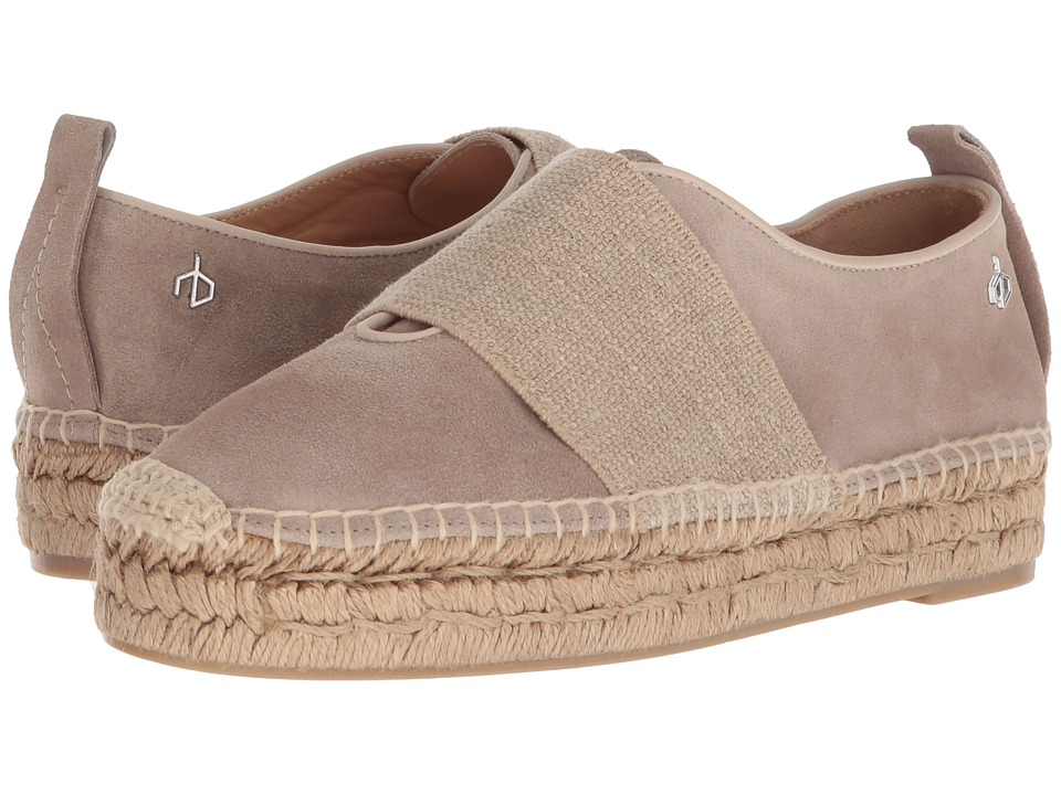 rag & bone - Nina Espadrille (Smoke Suede) Womens Shoes