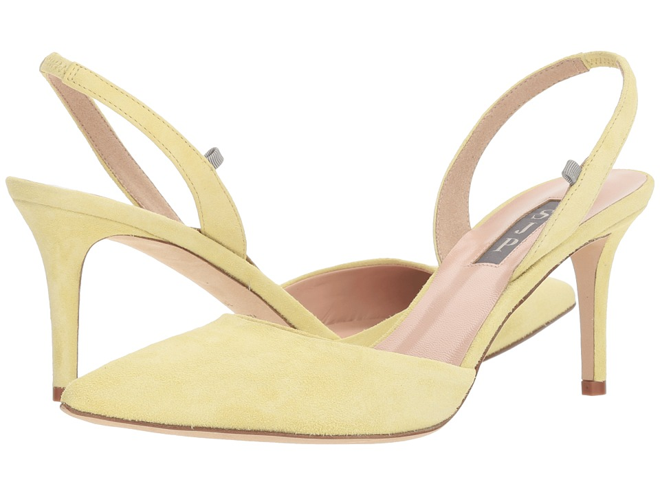 SJP by Sarah Jessica Parker - Bliss 70 (Yellow Suede) Womens Shoes