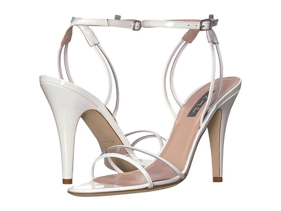 SJP by Sarah Jessica Parker Queen (White Patent) Women's Shoes