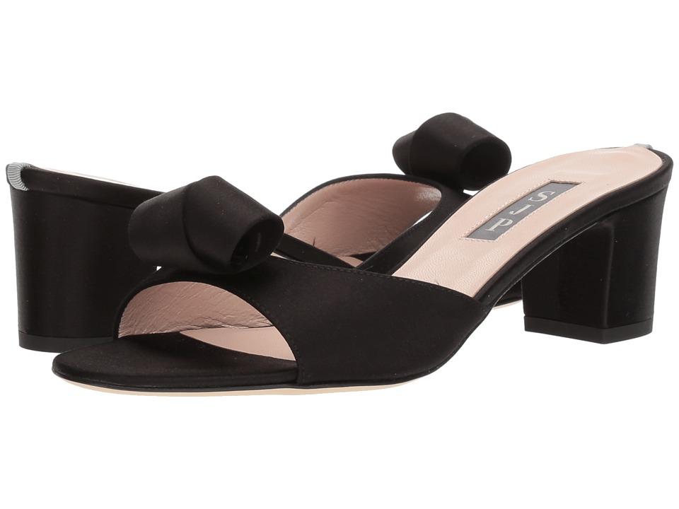 SJP by Sarah Jessica Parker Charlie (Ebony Satin) Women's Shoes