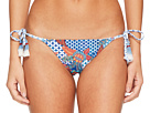 Red Carter Tahitian Tide Triangle Tie Side Bikini Bottom