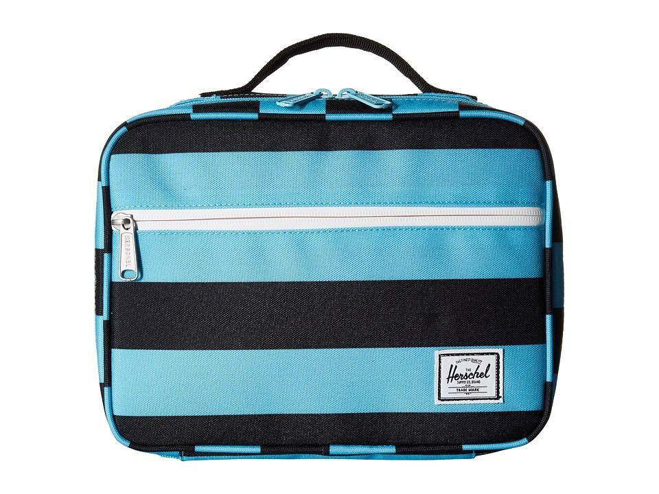 Herschel Supply Co. - Pop Quiz Lunchbox (Black/Bachelor Button Stripes/Black) Bags