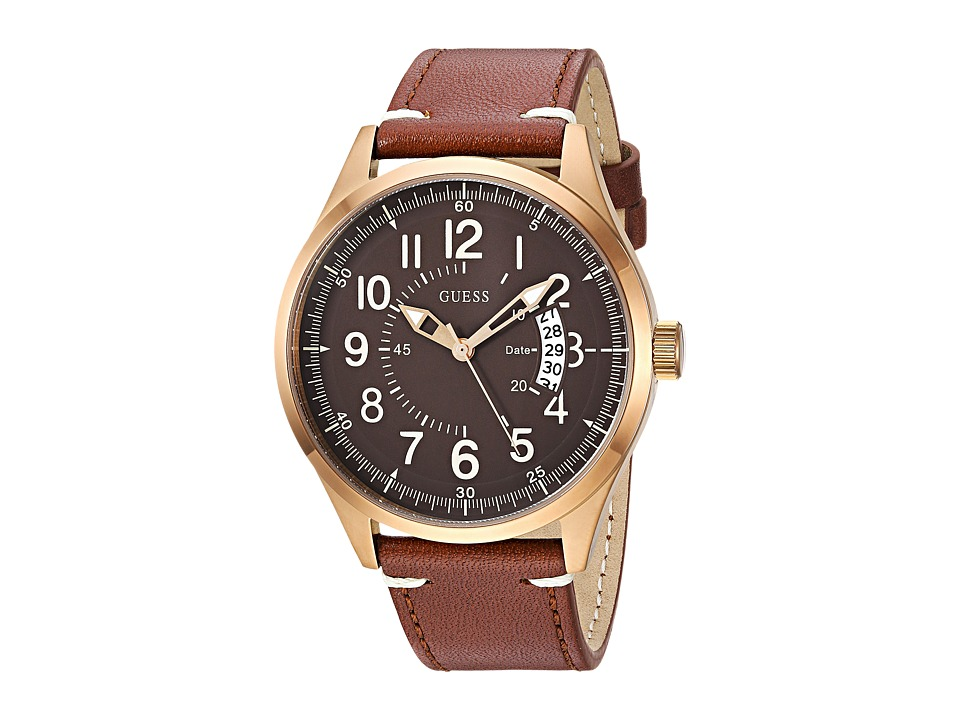GUESS - U1102G3 (Rose Gold/Brown) Watches