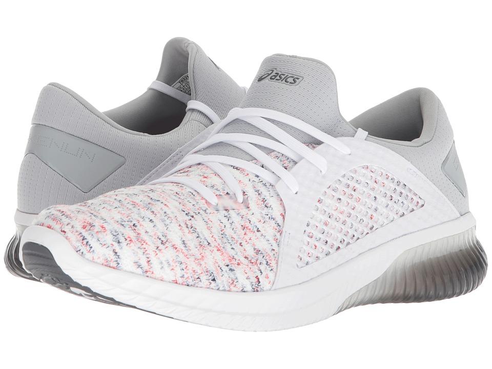 ASICS - GEL-Kenun Knit (White/White/Mid Grey) Mens Running Shoes