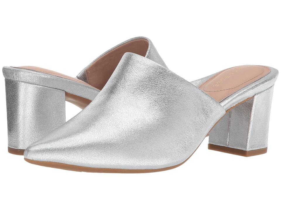 Taryn Rose - Madisson (Silver Metallic Nappa) Womens Clog/Mule Shoes