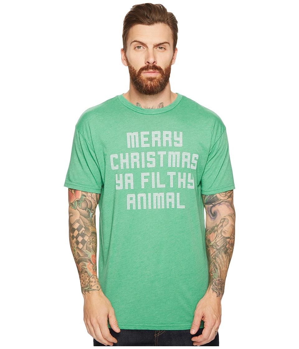 The Original Retro Brand - Merry Christmas Ya Filthy Animal Short Sleeve Heathered T
