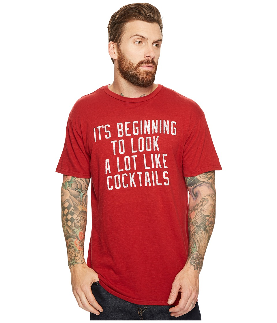The Original Retro Brand - It's Beginning To Look A Lot Like Cocktails Slub Short Sleeve T