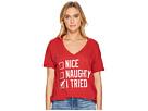 The Original Retro Brand Naughty, Nice, I Tried V-Neck T-Shirt