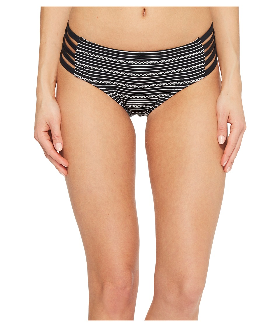 Jantzen Jacquard Pointelle Strappy Side Hipster Bikini Bottom JPSS8001-001