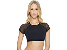Jantzen Mesh Solids High Neck Crop Bikini Top