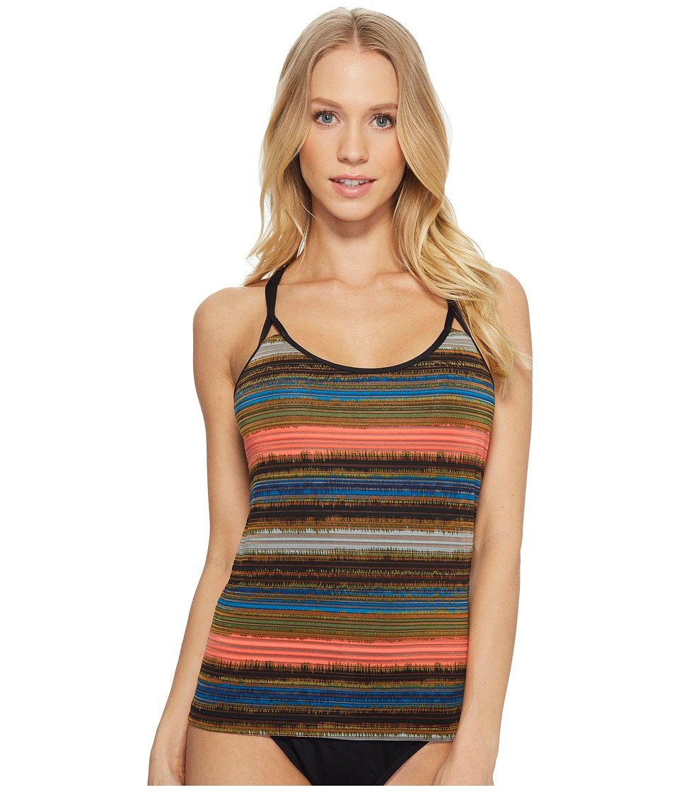Jantzen Printed Shadow Stripe Multi-Strap Back Tankini JPSS8062-990