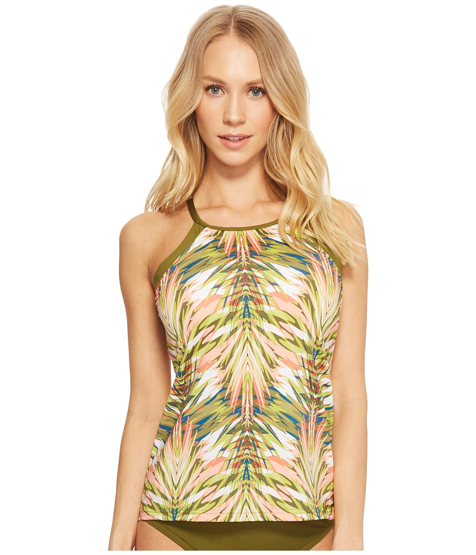 Jantzen Abstract Palm Leaf Racerback Tankini JPSS8118-990