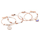 Alex and Ani Paper Hearts Set of 4 Bracelet
