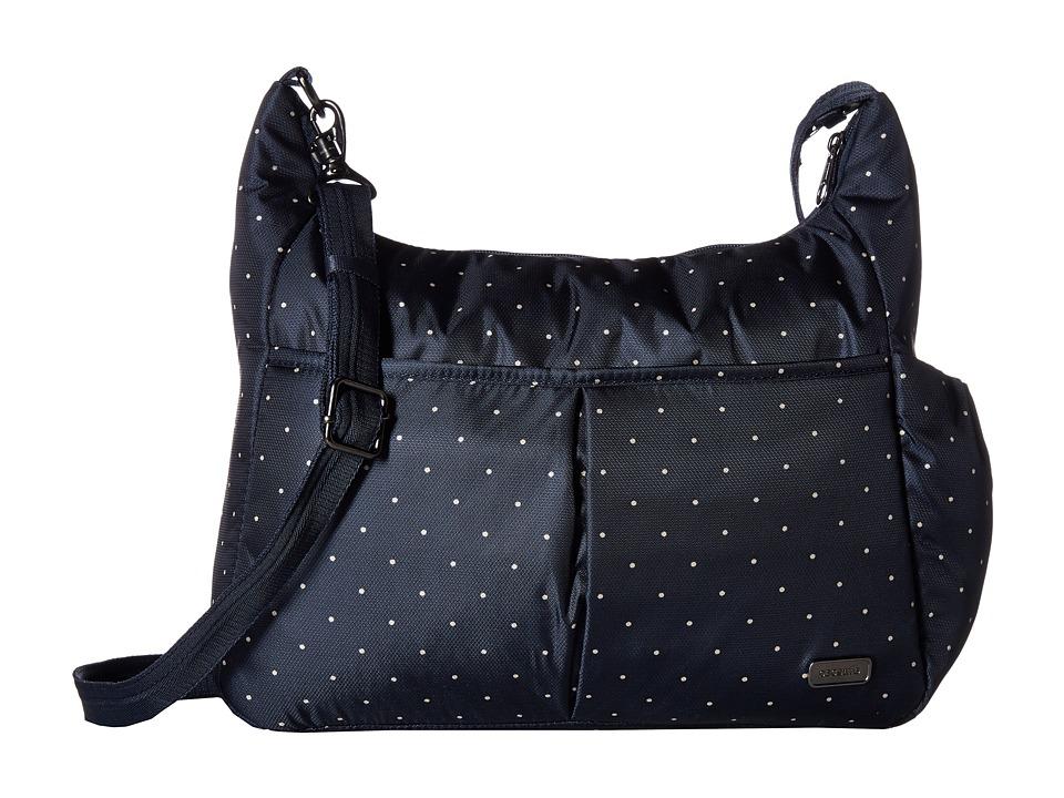Pacsafe - Daysafe Anti-Theft Crossbody Bag (Navy Polka Dot) Cross Body Handbags