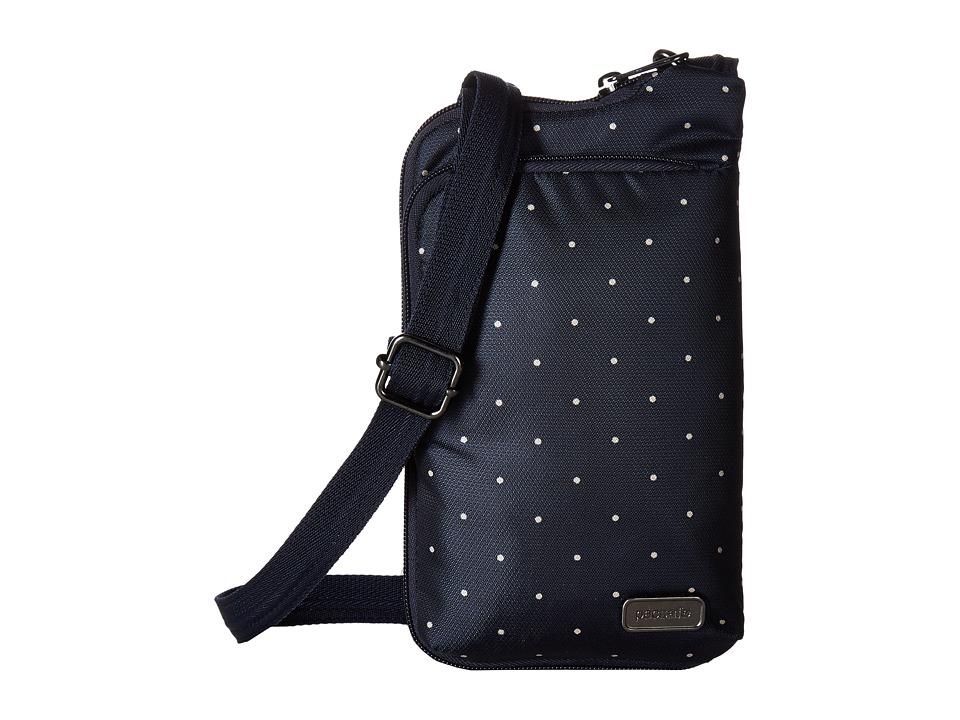 Pacsafe - Daysafe Anti-Theft Tech Crossbody Bag (Navy Polka Dot) Cross Body Handbags