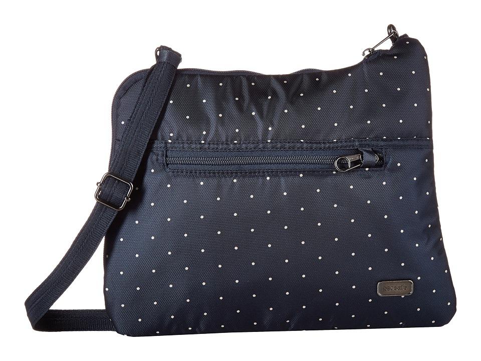 Pacsafe - Daysafe Anti-Theft Slim Crossbody Bag (Navy Polka Dot) Cross Body Handbags