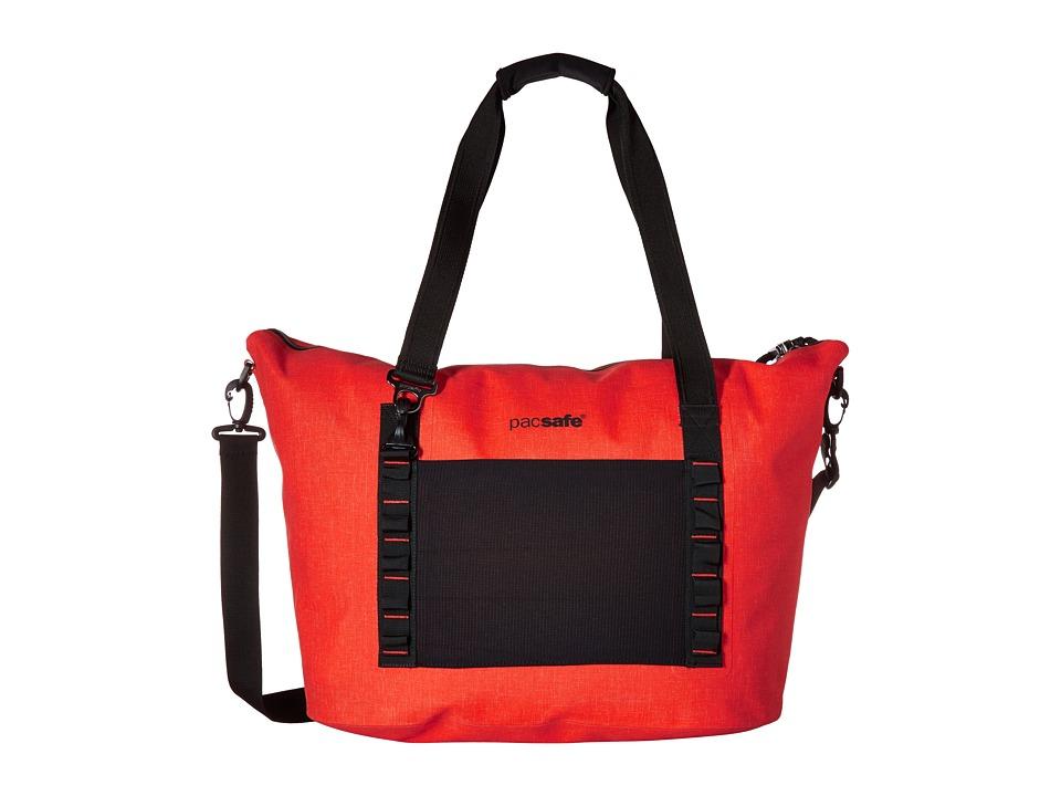 Pacsafe - Dry Anti-Theft Splashproof Beach Bag (Orange) Bags