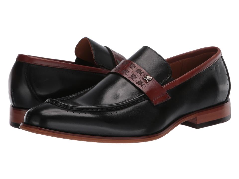 Mens Vintage Style Shoes| Retro Classic Shoes Stacy Adams - Sussex BlackCognac Mens Shoes $105.00 AT vintagedancer.com