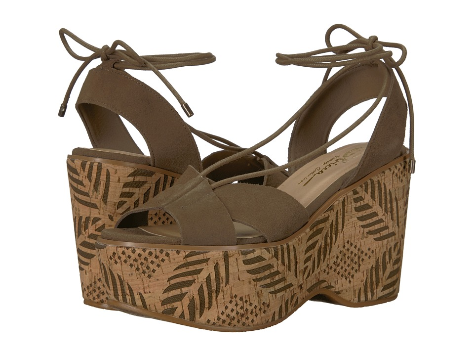 Vintage Style Shoes, Vintage Inspired Shoes Sbicca - Staycation Khaki Womens Wedge Shoes $99.95 AT vintagedancer.com