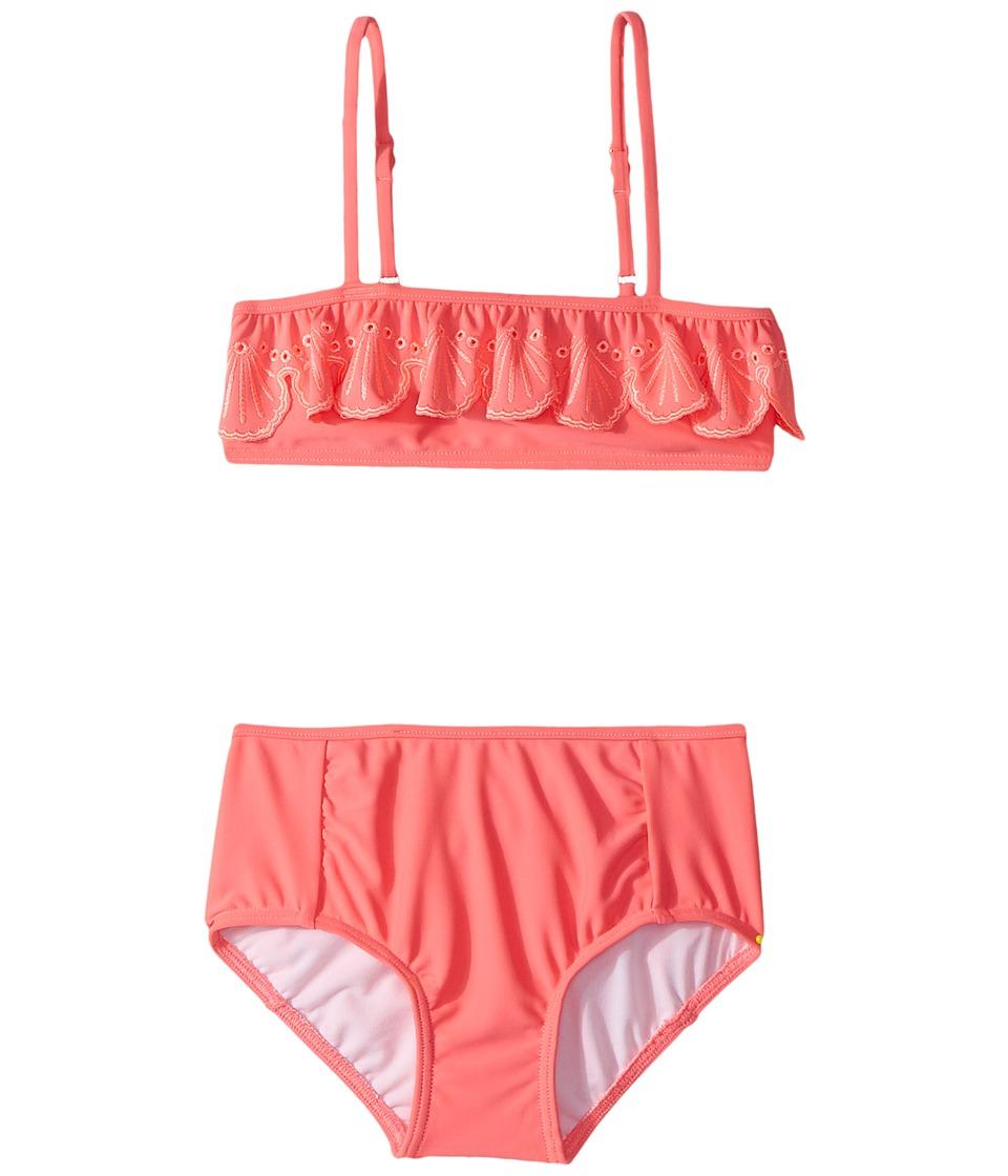 Seafolly Kids Sweet Summer Frill Mini Tube Bikini Set (Infant/Toddler/Little Kids) (Rose Pink) Girl