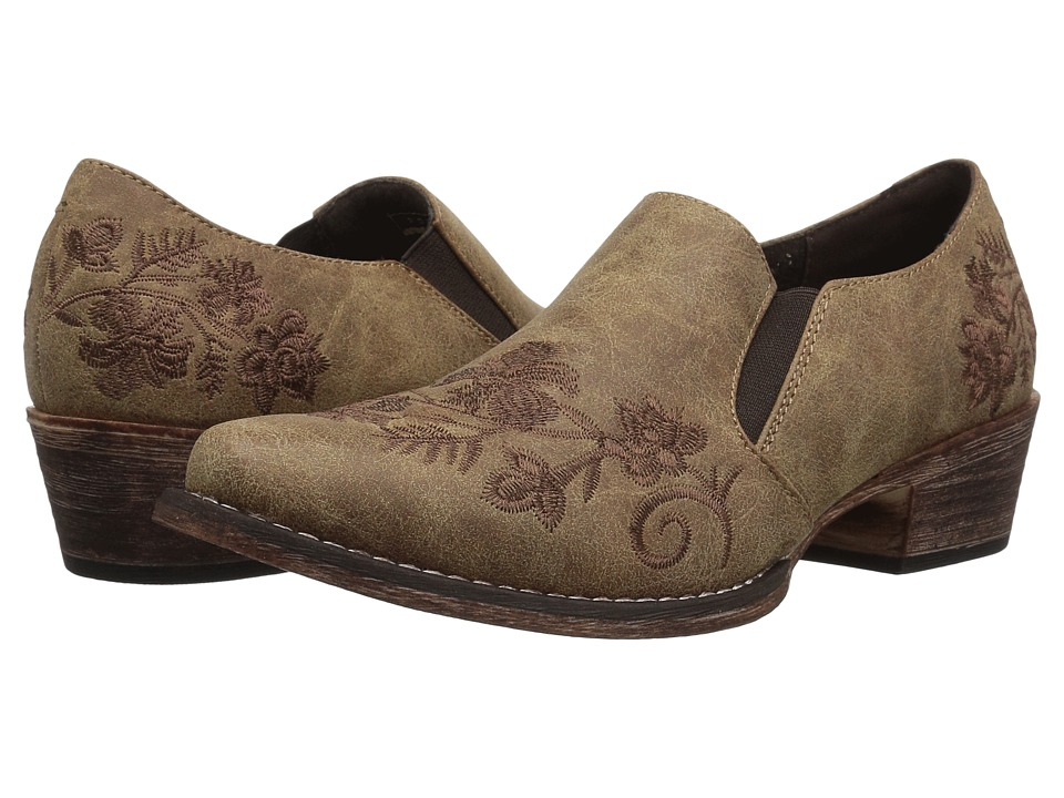 Roper Birkita (Vintage Tan Faux Leather) Slip-On Shoes