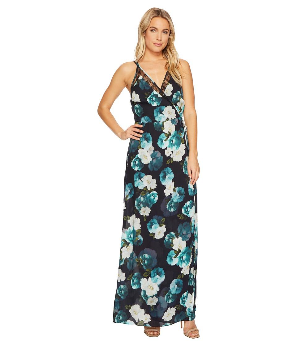 Adelyn Rae - Jasmine Maxi Dress (Black/Peacock) Womens Dress
