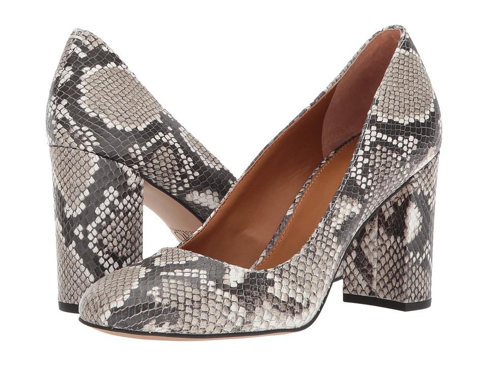 Franco Sarto Aziza (Shiny Printed Natural Snake) High Heels